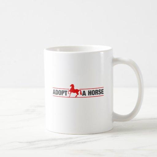 Adopt A Horse Classic White Coffee Mug