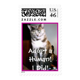 Adopt a Human Postage stamp