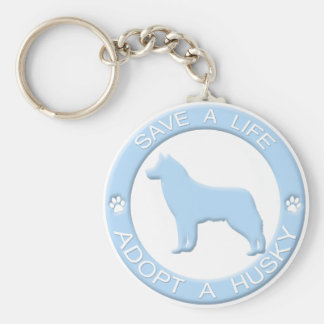 Adopt a Husky Keychain