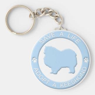 Adopt a Keeshond Keychain