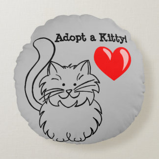 """Adopt a Kitty"" Throw Pillow"