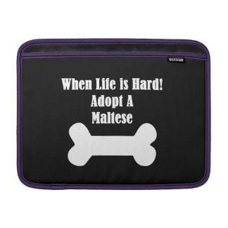 Adopt A Maltese MacBook Sleeve