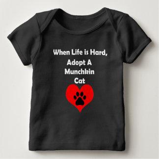 Adopt A Munchkin Cat Baby T-Shirt
