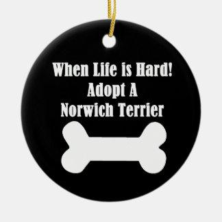 Adopt A Norwich Terrier Ceramic Ornament