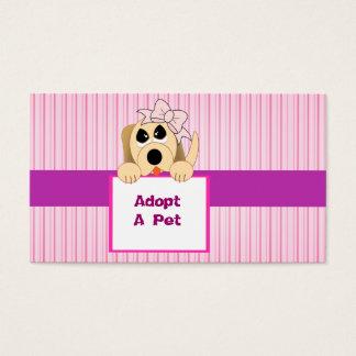 Adopt A Pet, Adorable Sign Business Card