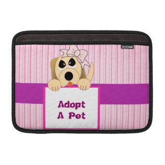 Adopt A Pet, Adorable Sign MacBook Air Sleeve
