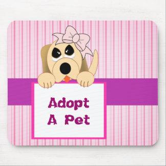 Adopt A Pet, Adorable Sign Mouse Pad
