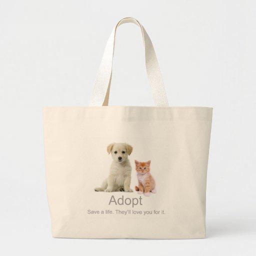 adopt a pet canvas bag
