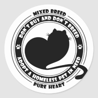 Adopt A Pet In Need Classic Round Sticker