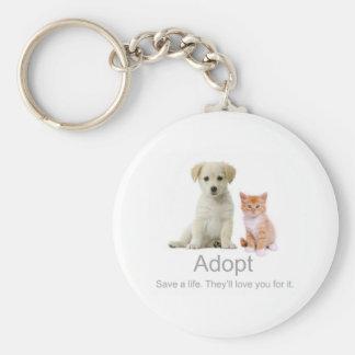 adopt a pet keychain