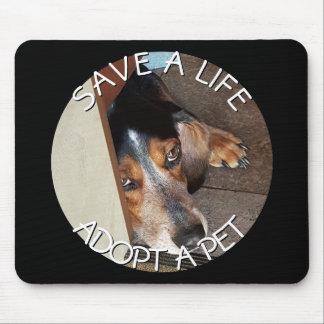 Adopt a Pet Photo Custom   Beagle Dog Rescue Mouse Pad