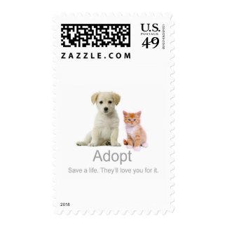 adopt a pet postage stamp