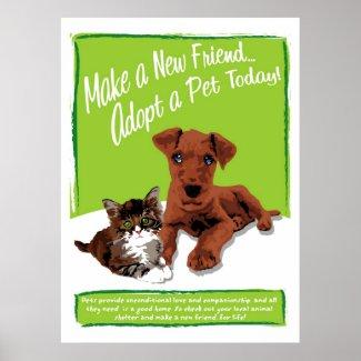 Adopt A Pet Poster print