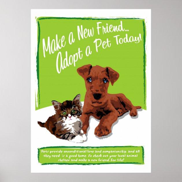 Adopt A Pet Poster | Zazzle.com  Pet Poster