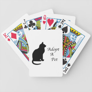Adopt a pet silhouette bicycle playing cards