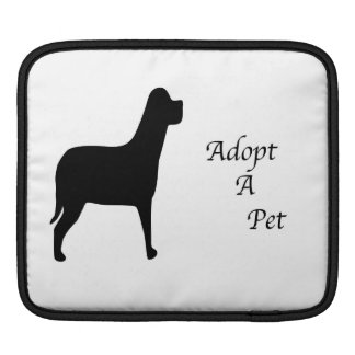 Adopt a Pet Silhouette iPad Sleeves