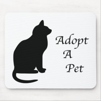 Adopt a pet silhouette mouse pad