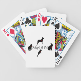 Adopt a Pet Silhouettes Bicycle Playing Cards