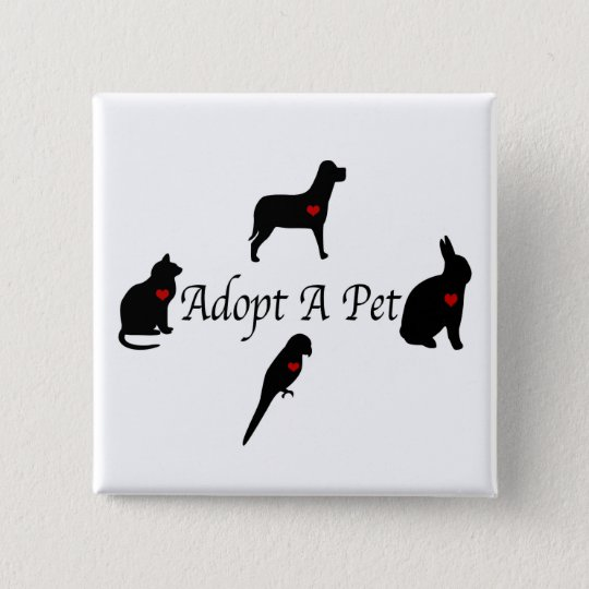 Adopt a Pet Silhouettes Button