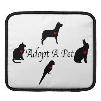 Adopt a Pet Silhouettes iPad Sleeve