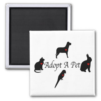 Adopt a Pet Silhouettes Magnet