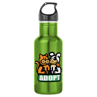 ADOPT A PET STAINLESS STEEL WATER BOTTLE