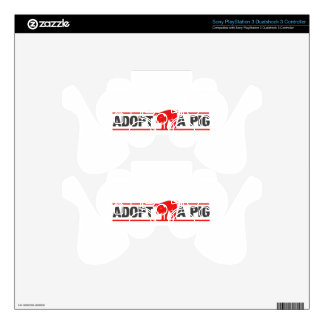 Adopt A Pig Skins For PS3 Controllers