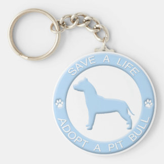 Adopt a Pit Bull Keychain