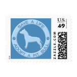 Adopt a Pit Bull Postage Stamps