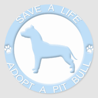 Adopt a Pit Bull Stickers
