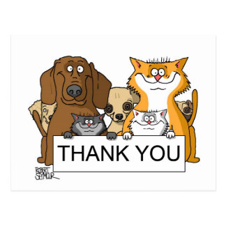 Adopt A Poody Thank You Post Card