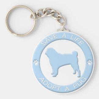 Adopt a Pug Keychain