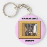 Adopt a puppy keychain