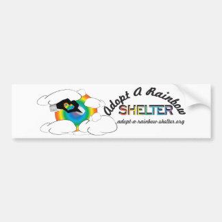 Adopt-A-Rainbow Shelter Car Bumper Sticker