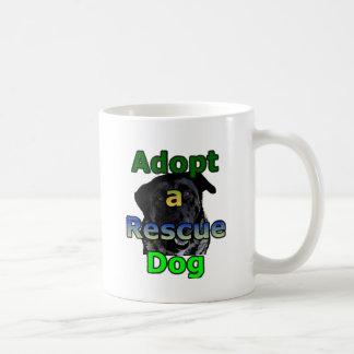 Adopt a Rescue Dog Classic White Coffee Mug