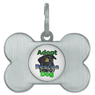 Adopt a Rescue Dog Pet Name Tags