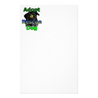 Adopt a Rescue Dog Stationery Paper