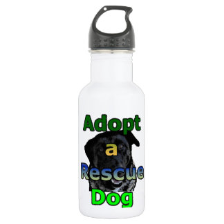 Adopt a Rescue Dog Water Bottle