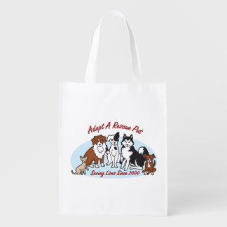 """""""Adopt a Rescue Pet"""" Grocery Tote"""