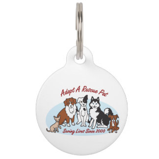 """Adopt a Rescue Pet"" Pet ID Tag"