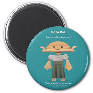 ADOPT A RESCUED CAT! 2 INCH ROUND MAGNET
