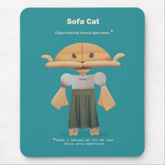 ADOPT A RESCUED CAT! MOUSE PAD