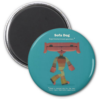 ADOPT A RESCUED DOG! 2 INCH ROUND MAGNET