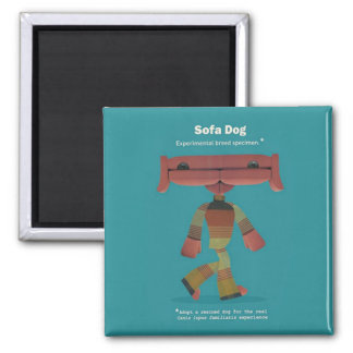 ADOPT A RESCUED DOG! 2 INCH SQUARE MAGNET