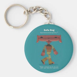 ADOPT A RESCUED DOG! BASIC ROUND BUTTON KEYCHAIN