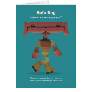 ADOPT A RESCUED DOG! GREETING CARD