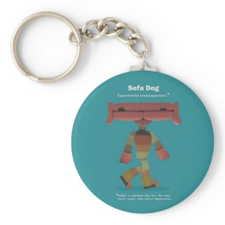 ADOPT A RESCUED DOG! keychain