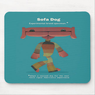 ADOPT A RESCUED DOG! MOUSE PAD