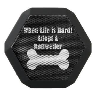 Adopt A Rottweiler Black Bluetooth Speaker