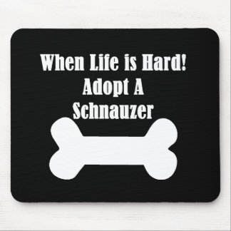 Adopt A Schnauzer Mouse Pad